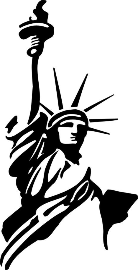 The Statue Of Liberty Symbol Pictogram Liberty And Freedom Of Mind