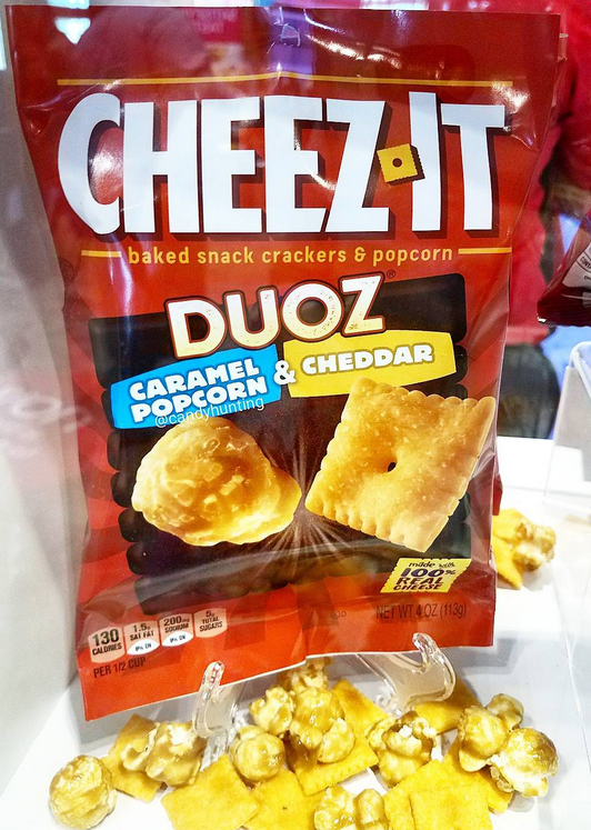 Cheez It Duoz Caramel Popcorn Cheddar Crackers March 2018