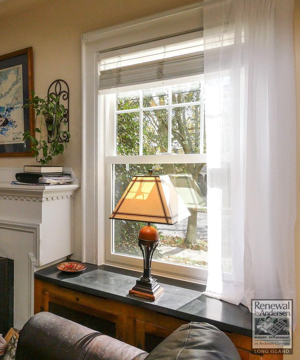 A New Double Hung Window We Installed In This Warm And Attractive Family Room In Nassau County Home Double Hung Windows Home Remodeling Double Hung