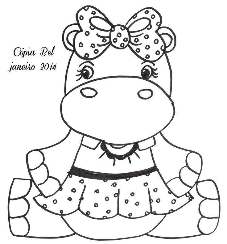 hipopotamo   jardin   Pinterest   Hipopótamo, Pintura en tela y ...