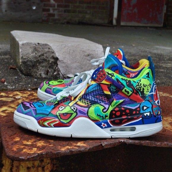 "sports shoes 4d471 e0b76 Air Jordan IV (4) ""NS Graffiti"" Customs by Ruovo Co."
