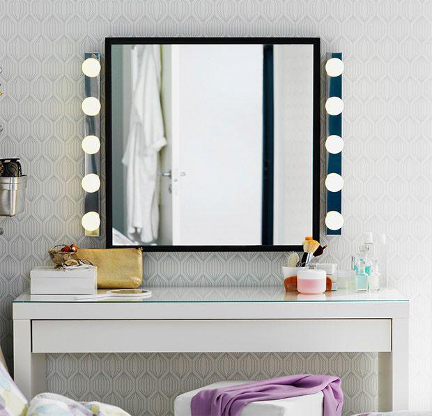 Tavolo beauty ikea malm m a k e u p pinterest trucco specchi e toeletta - Ikea specchi grandi ...