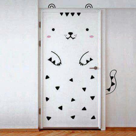 Cat Door decoration