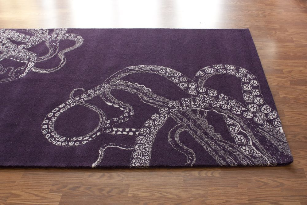 Sierra Octopus Tail Purple Rug Contemporary Rugs Rugs