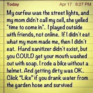 My childhood...