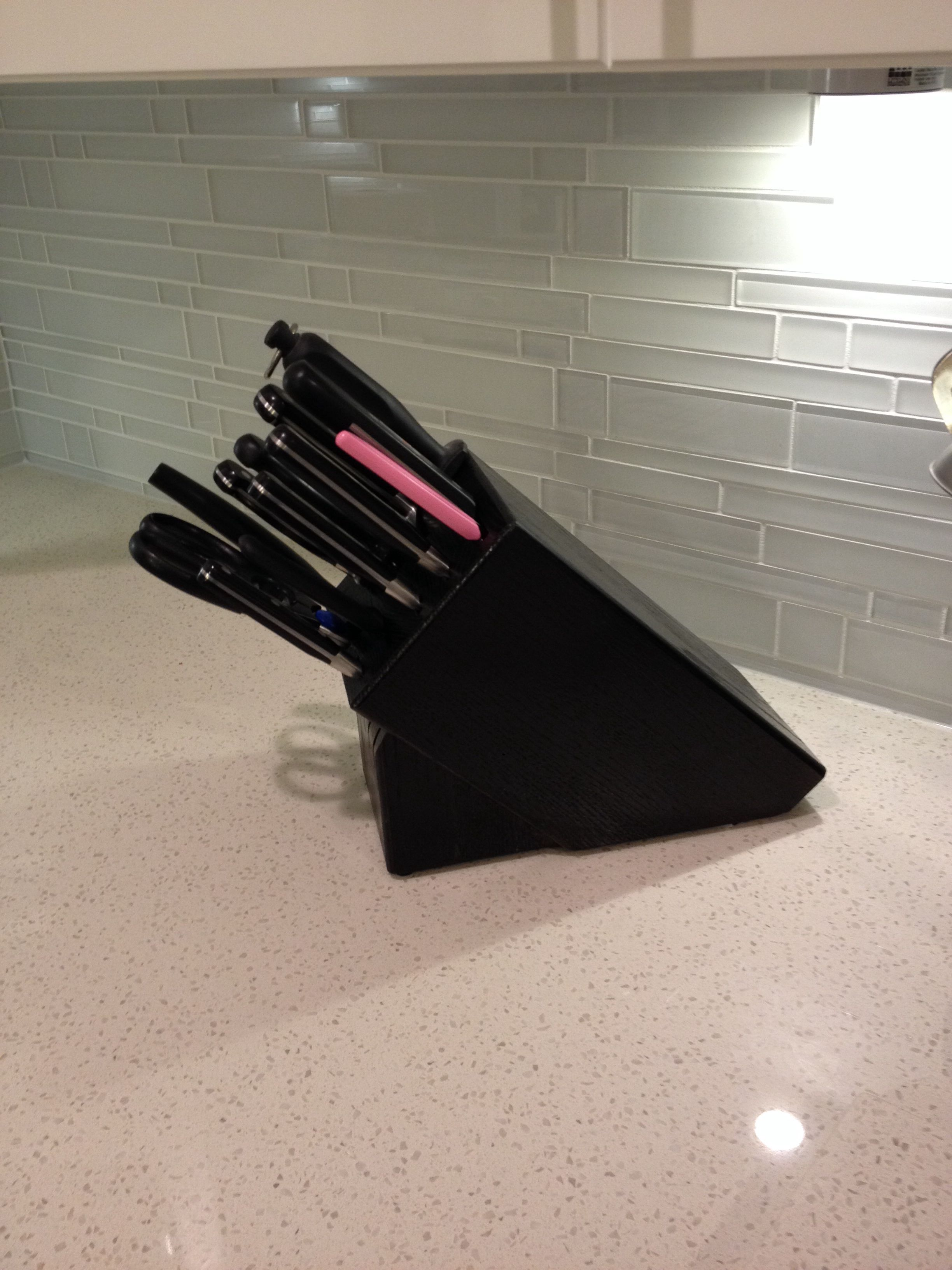 Want A Black Knife Block I Redid My Kitchen And Brown