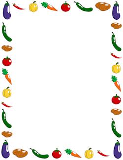 Vegetable Border | rámčeky | Pinterest | Binder, Junk ...