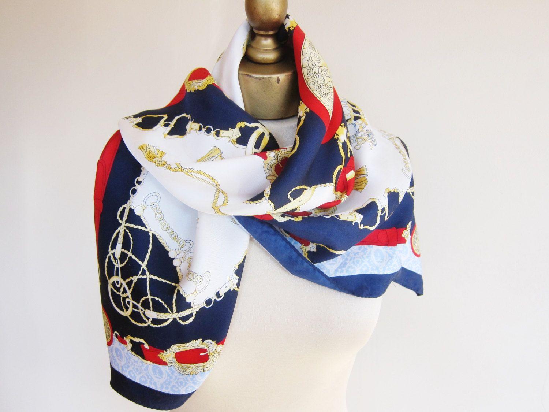 c2a06a57d8 Silk scarf, vintage CACHAREL silk scarf, large sqaure scarf, classic silk  scarf, French scarves, traditional sqaure silk scarf, carre by  foulardfantastique ...