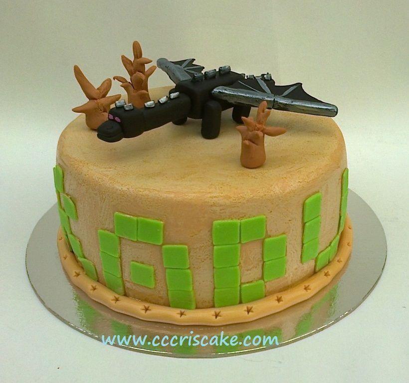 Minecraft enderman dragon Birthday Cakes Birthday party ideas