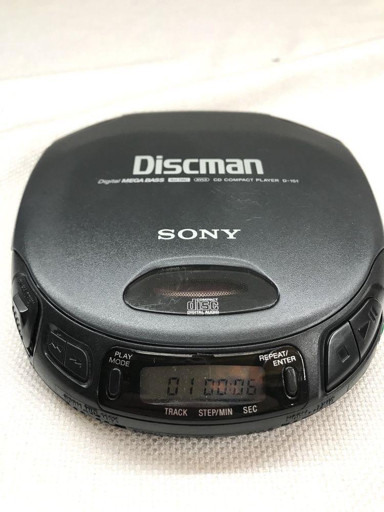 sony discman d 151 mega bass cd player no headphones in. Black Bedroom Furniture Sets. Home Design Ideas
