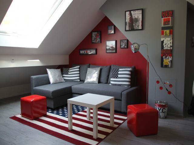photos decoration de chambre d ado fille international gris rouge de mydeco coach