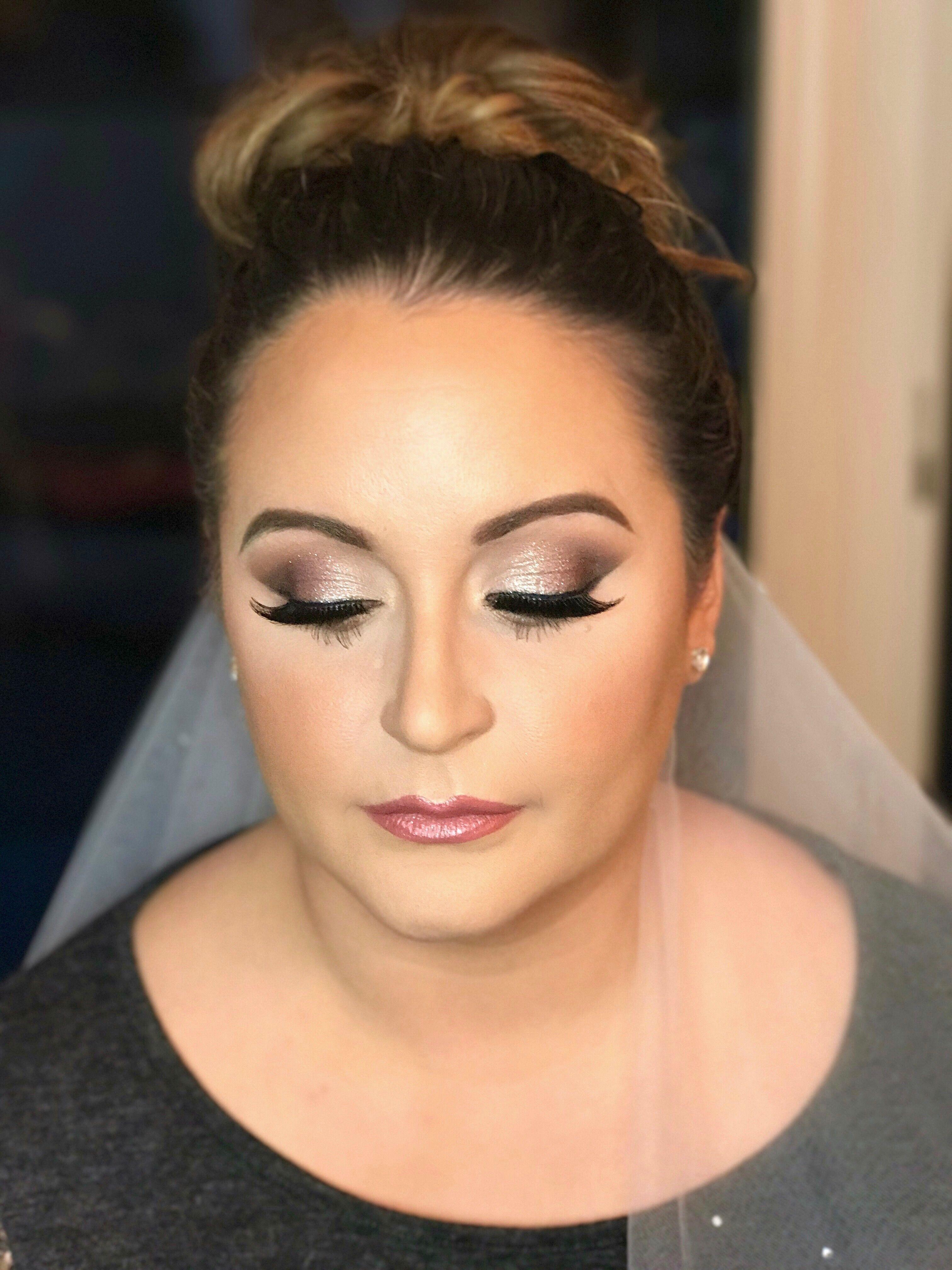 Bridal Makeup Trial W Gold Sparkle