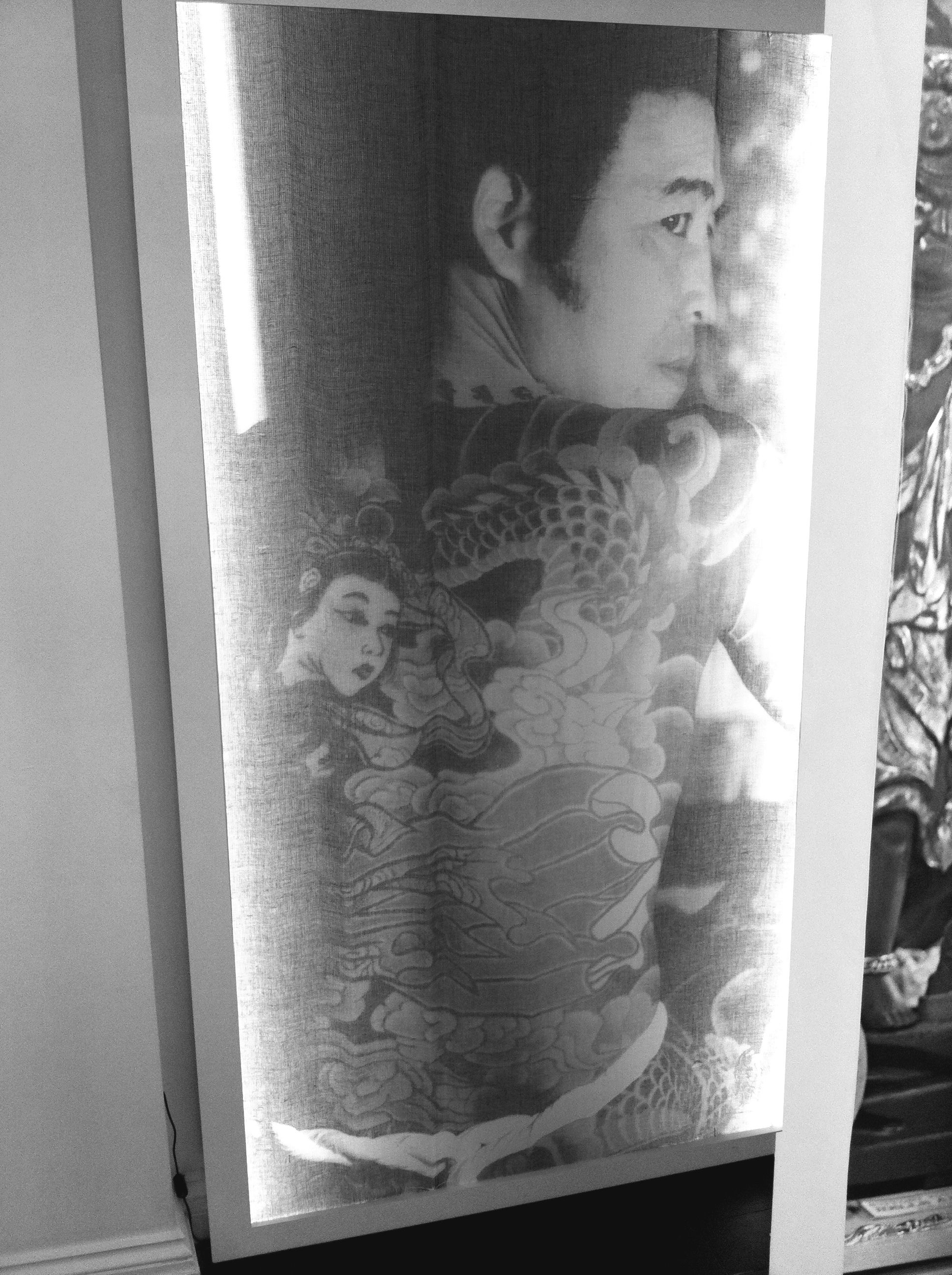the Young Horiyoshi The Third Scarf in our light box