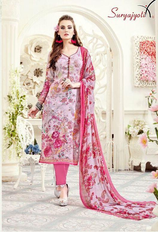 6c7c28d628 Suryajyoti Naisha Vol-9 Cotton Suits (12 pc catalog) | Designer ...