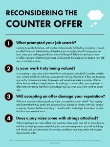 Reconsidering The Job Offer Career Development Job Offer Hospitality Industry