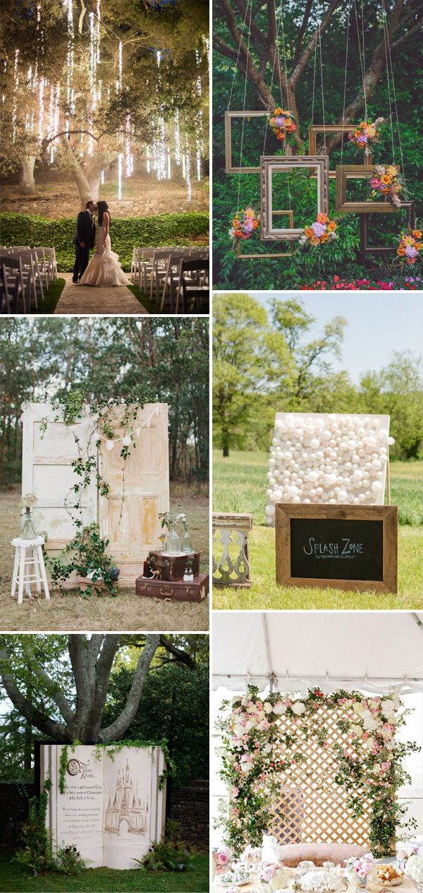 decorating ideas for outside wedding ceremony%0A Top    Unique Backdrops for Wedding Ceremony Ideas