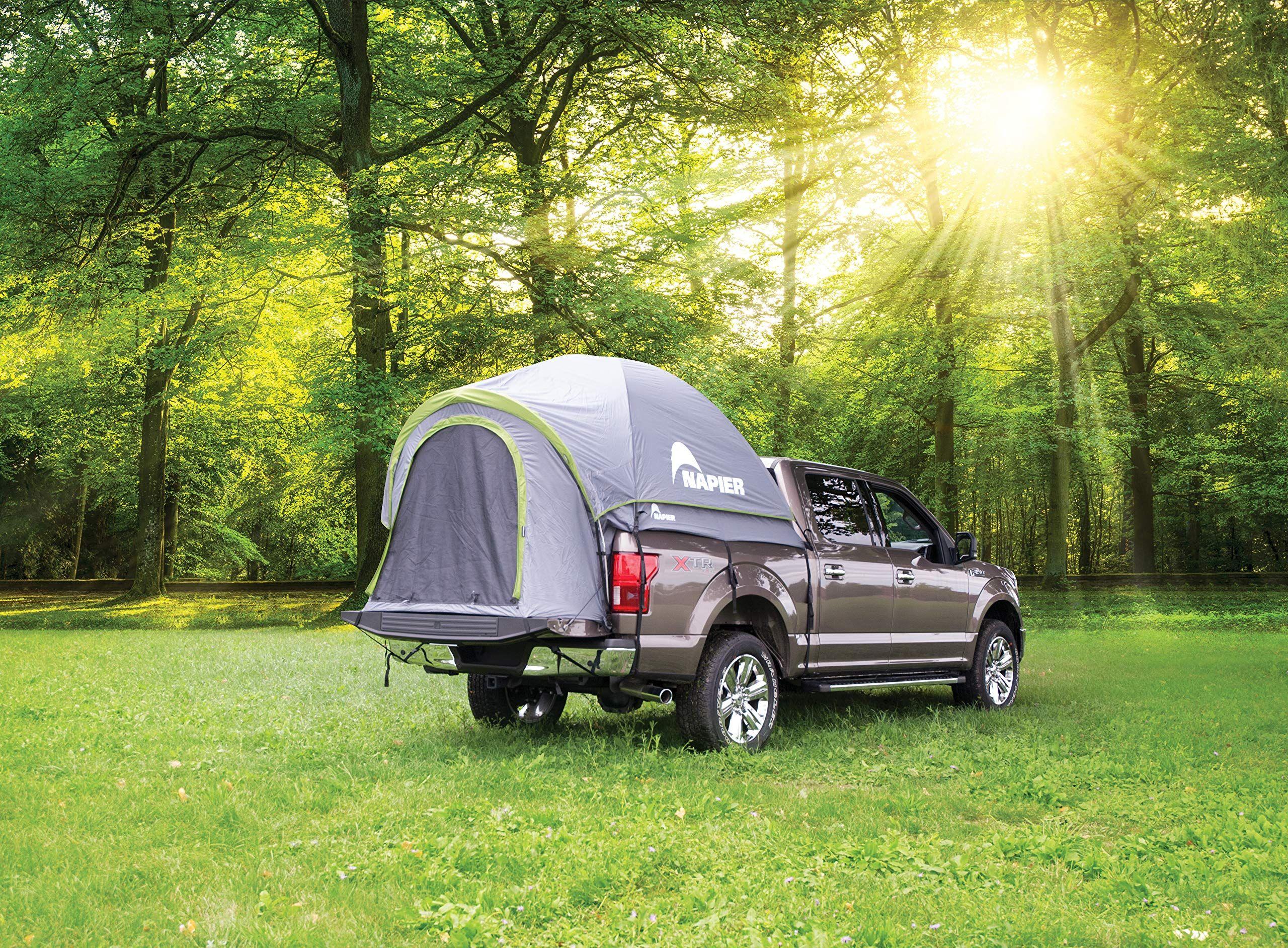 Napier Backroadz Truck Tent Compact Regular Bed Grey/Green