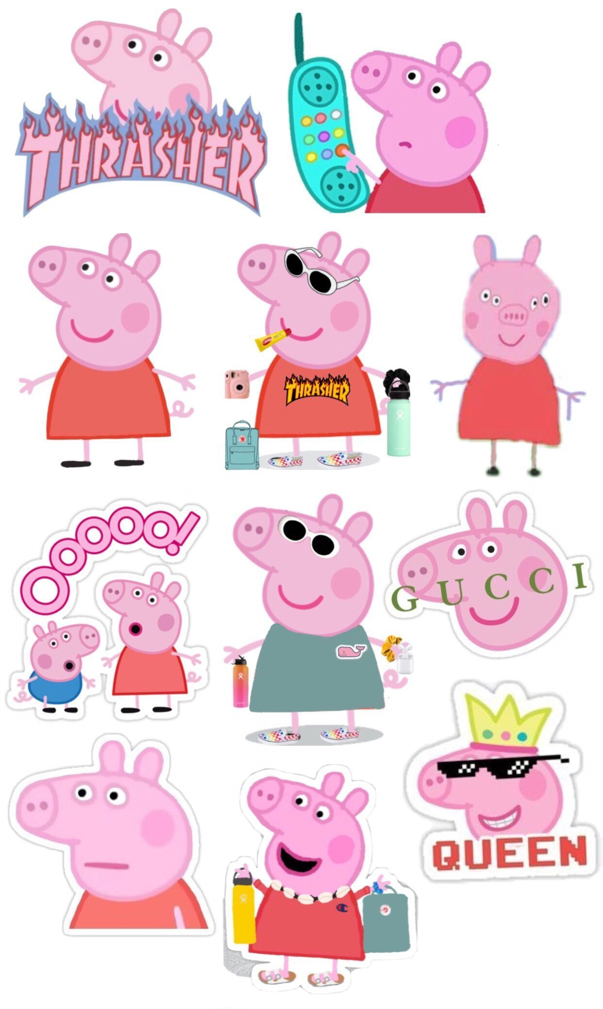 Pepppaaaa What Are You Doing On My Wallpaper Meme Stickers Iphone Case Stickers Cute Stickers