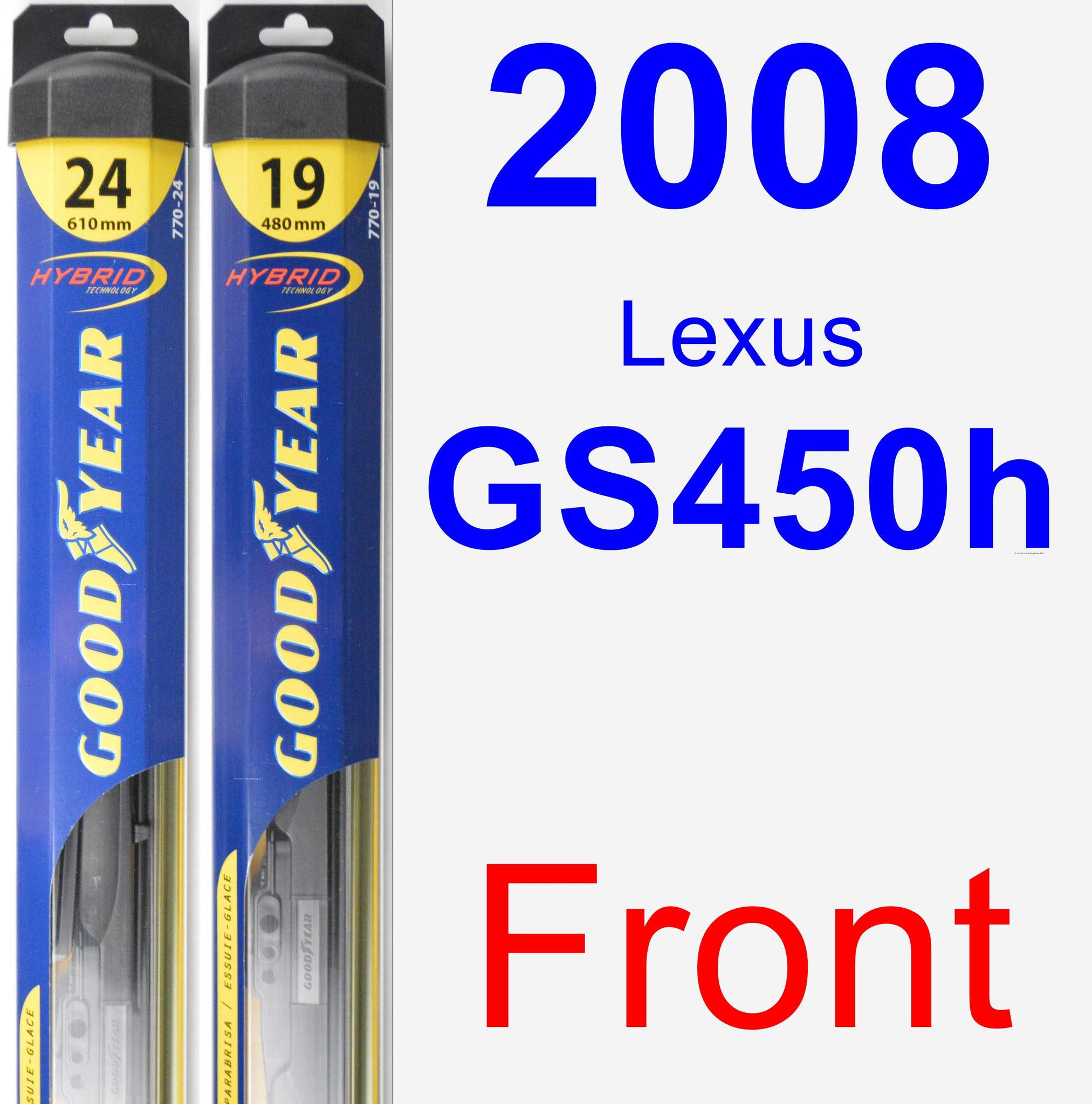 Front Wiper Blade Pack For 2008 Lexus Gs350