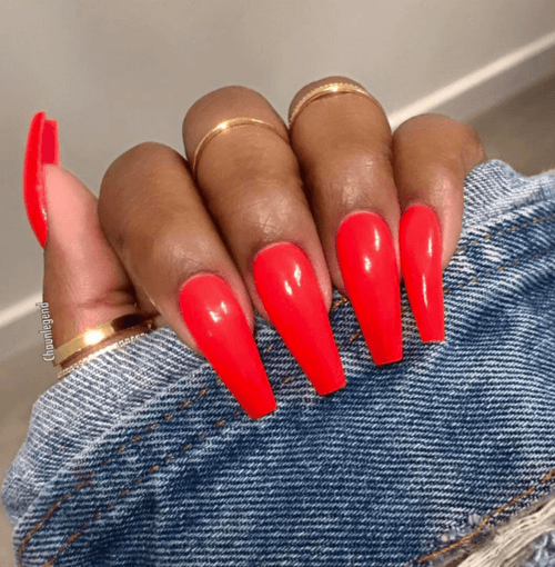 50 Creative Red Acrylic Nail Designs To Inspire You Red Acrylic Nails Coffin Nails Red Nails