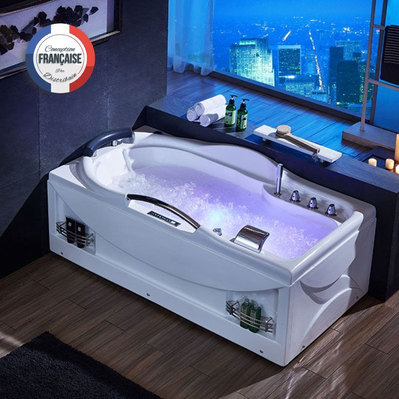 d bounty baignoire baln o rectangulaire whirlpool 47 jets. Black Bedroom Furniture Sets. Home Design Ideas