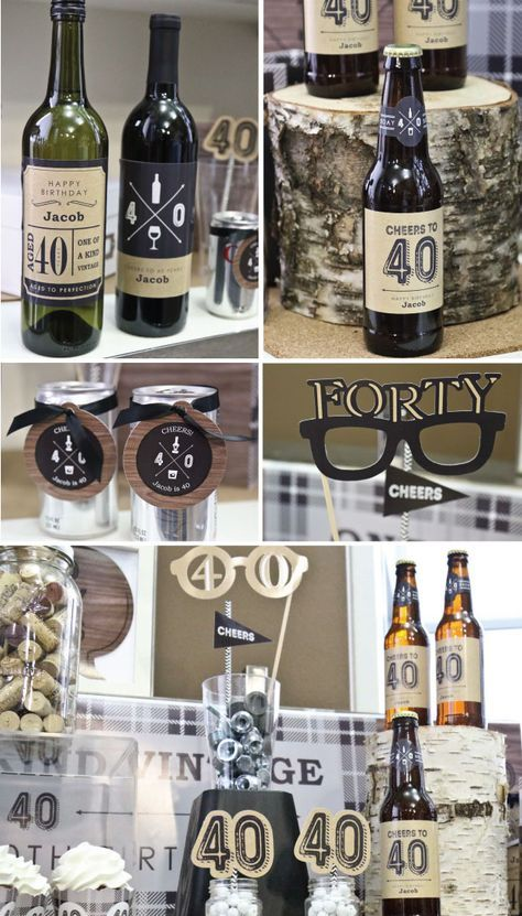Bottoms up 40th Birthday Party Ideas for Guys ridel bday party