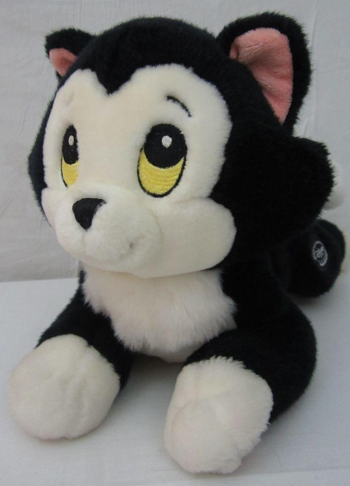 Disney Store Exclusive Pinocchio Cat Figaro Plush Black White 14