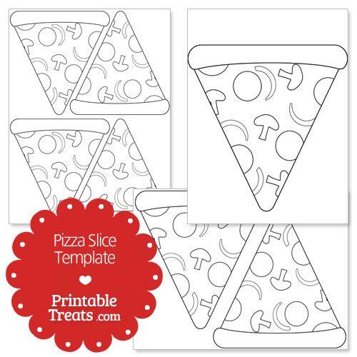 Printable Pizza Slice Shape Template Pizza Slice Shape