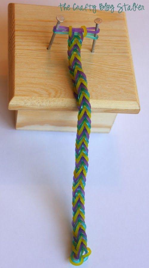 Fish Tail Stretch Band Bracelet: Rainbow Loom, DIY, Tutorial, loom and bracelet instructions