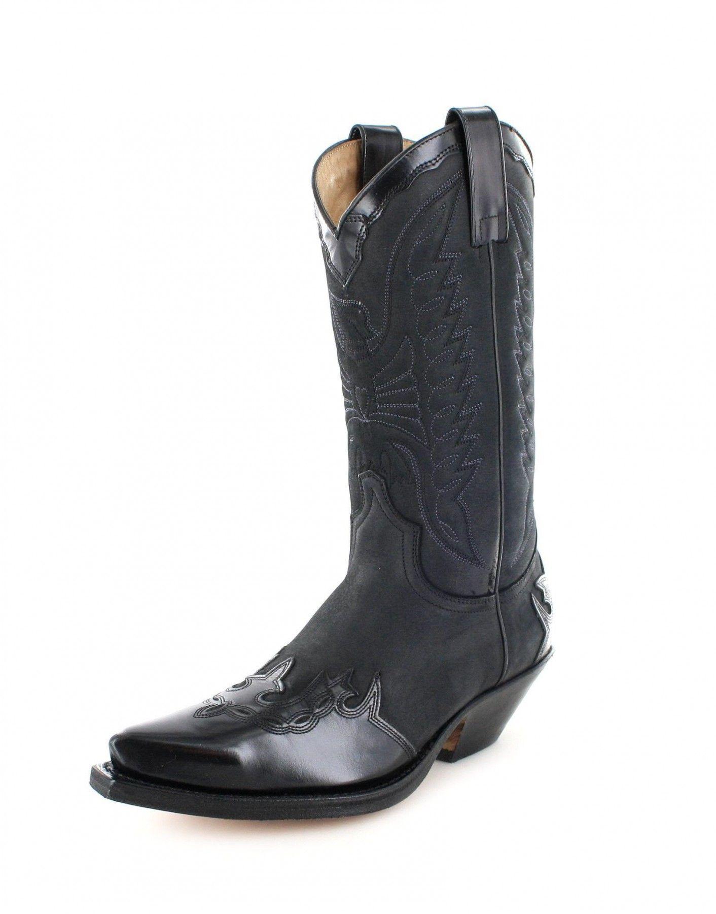 Sendra Boots Stiefel 2560 Schwarz Westernstiefel Cowboystiefel