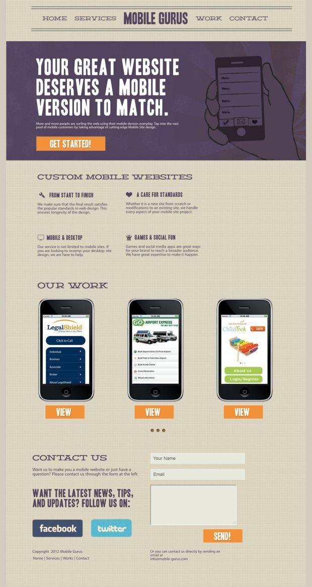 Mobile Gurus   Mobile Website Development   Best Website, Web Design  Inspiration Showcase