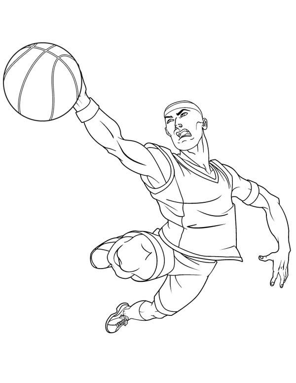 cool basketball player coloring pages Special Picture | Colouring ...
