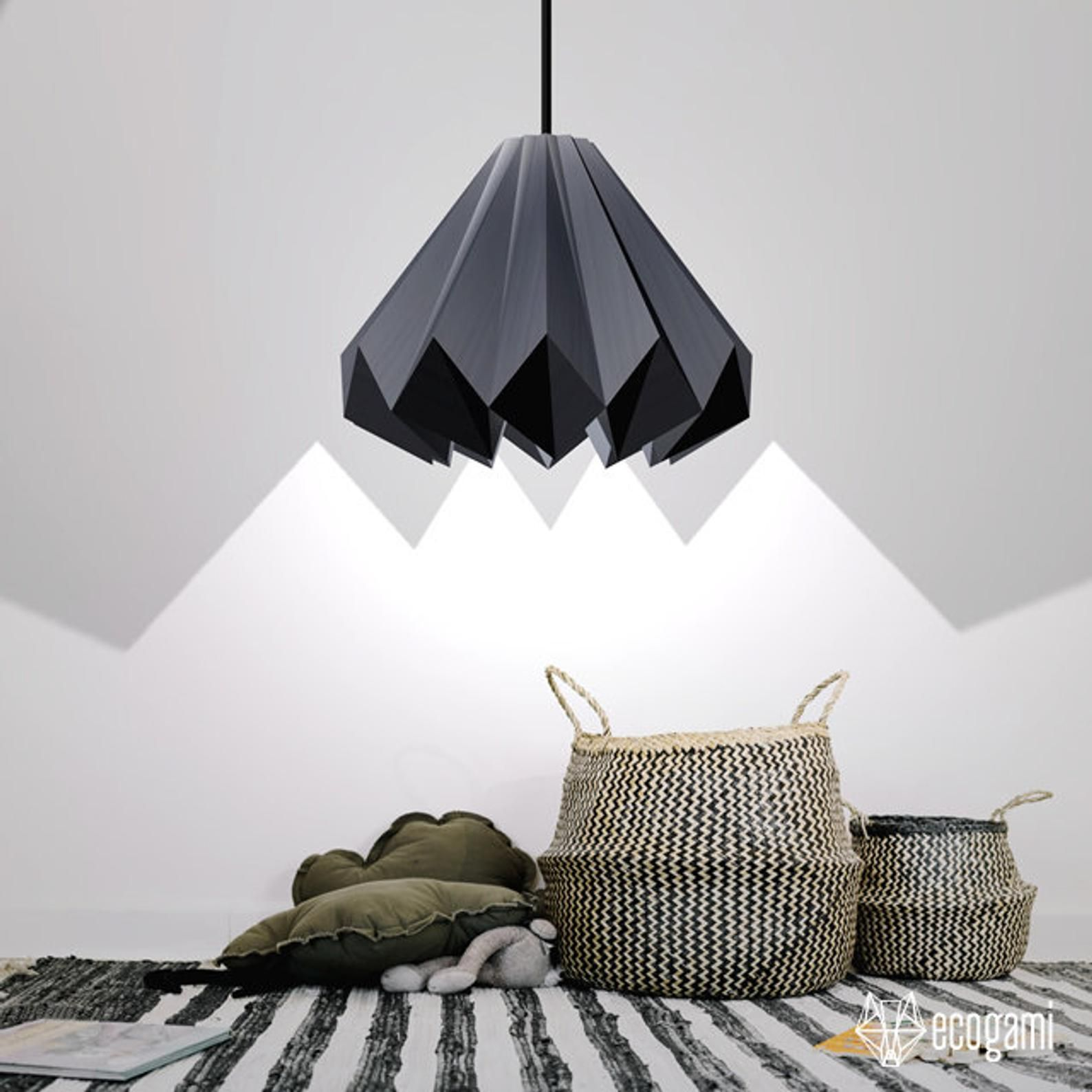 Diy Paper Lampshade Origami I Perfect For Your Lighting Etsy In 2020 Paper Lampshade Diy Paper Origami Lamp