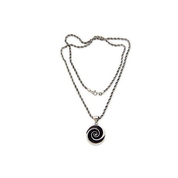 NOVICA Oxidized Sterling Silver Pendant Necklace with Shell Motif ($59) ❤ liked on Polyvore featuring jewelry, necklaces, pendant, sterling silver, shell pendant necklace, seashell pendant necklace, spiral pendant, novica jewelry and seashell pendant