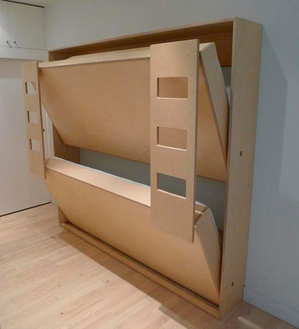 Hochbett, klappbar Betten für kinder, Murphybett ikea