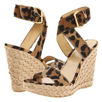 looking for cheap sale 2014 Stuart Weitzman Leopard Printed Wedge Sandals iCakrMToQg