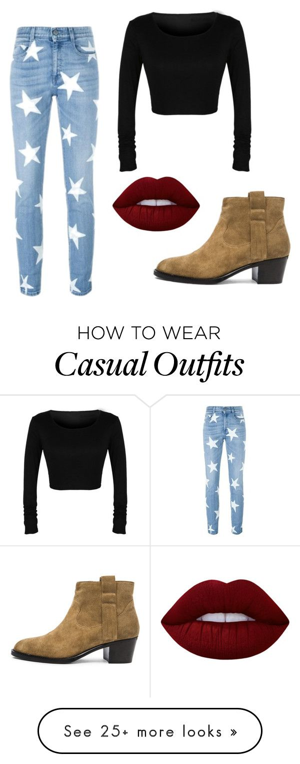 """Casual"" by scathach6 on Polyvore featuring STELLA McCARTNEY, Burberry and Lime Crime"