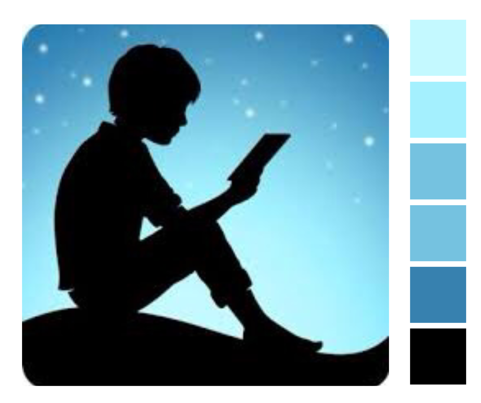 The Amazon Kindle App Logo 2017 Features A Subtle Colour Gradation From Light Through To Mid Blue Plus Blac Free Amazon Products Tablet Amazon Amazon Fire Tv