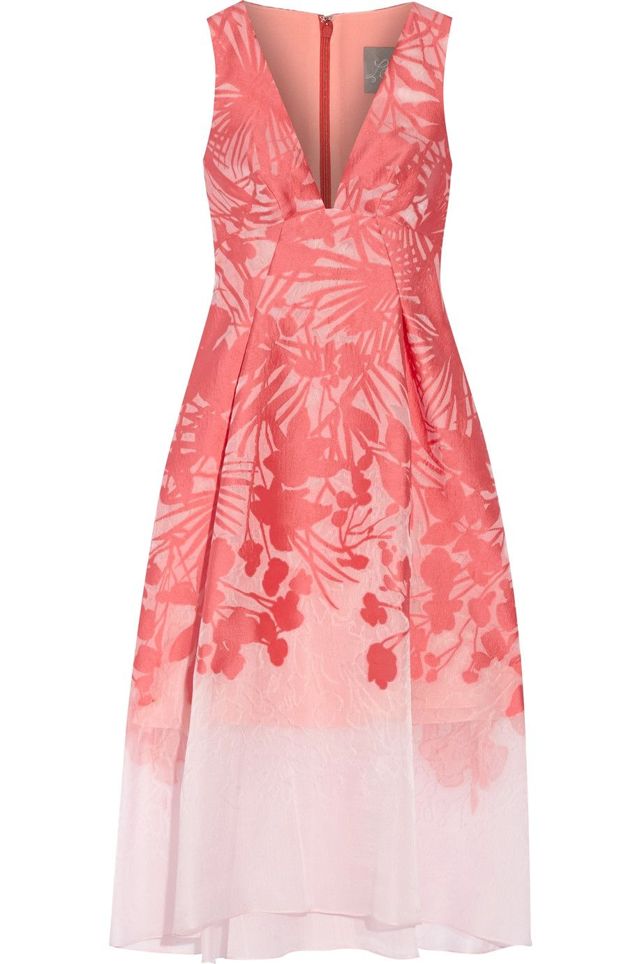 LELA ROSE Floral organza-jacquard dress. #lelarose #cloth #dress ...