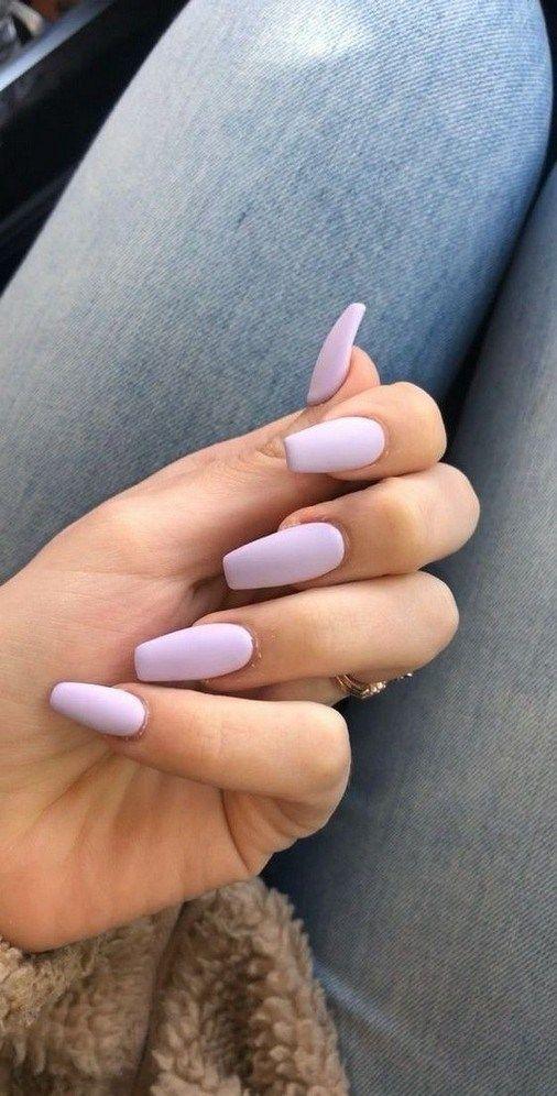 48 Simple Short Acrylic Summer Nails Designs #shortacrylicnails #summernailsdesigns #acrylicnailsdesigns »… | Purple acrylic nails, Short acrylic nails, Bride nails