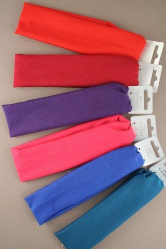 fabric coloured hairband bandeaux