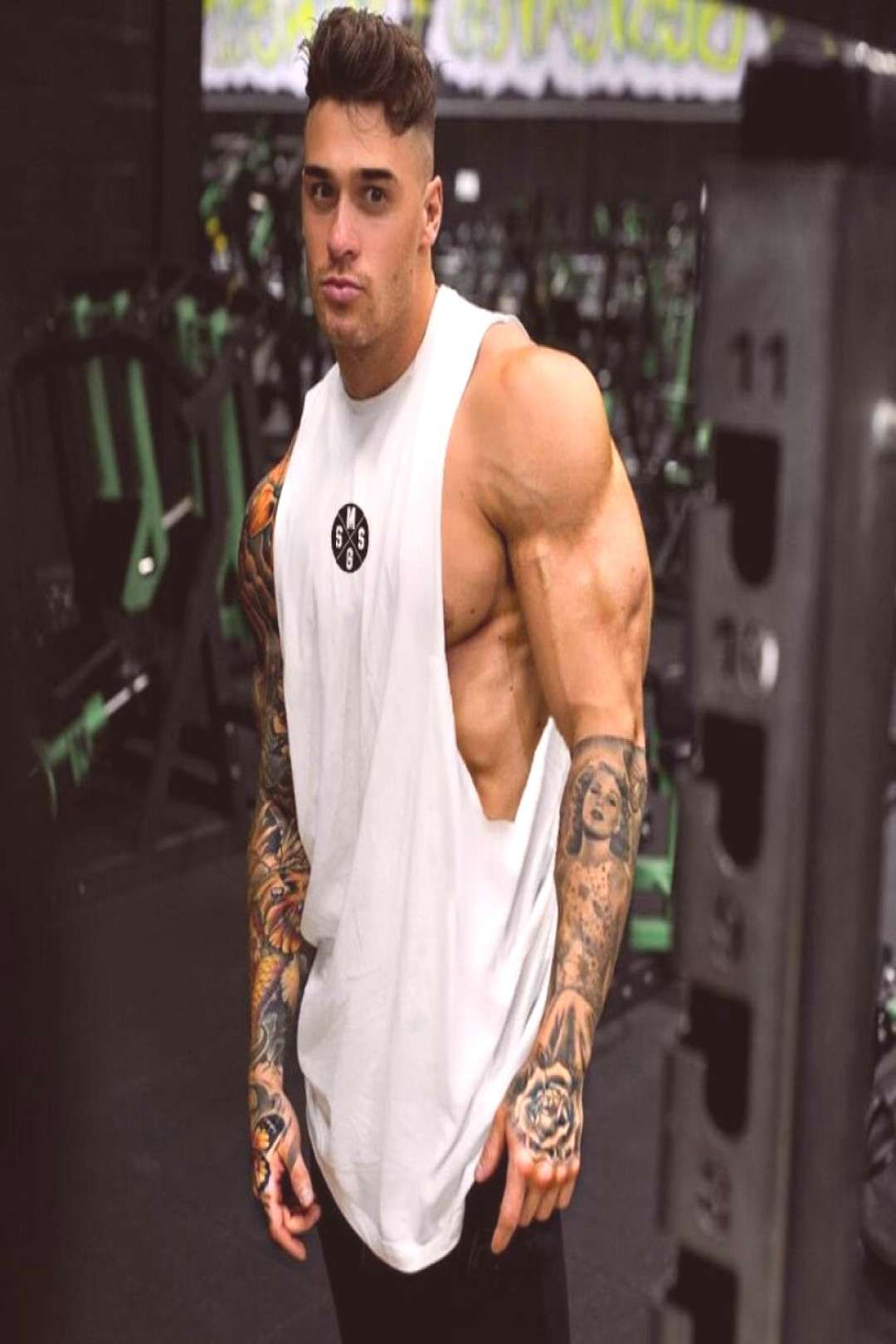 Sleeveless Shipping Hashtag2 Fitness Muscle Casual Shirt