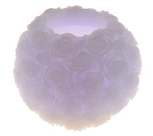 Home Reflections 5 Flameless Rosette Candle with Timer