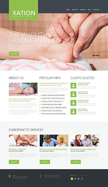 Template 48351 - Xation Therapeutic Responsive Website Template ...