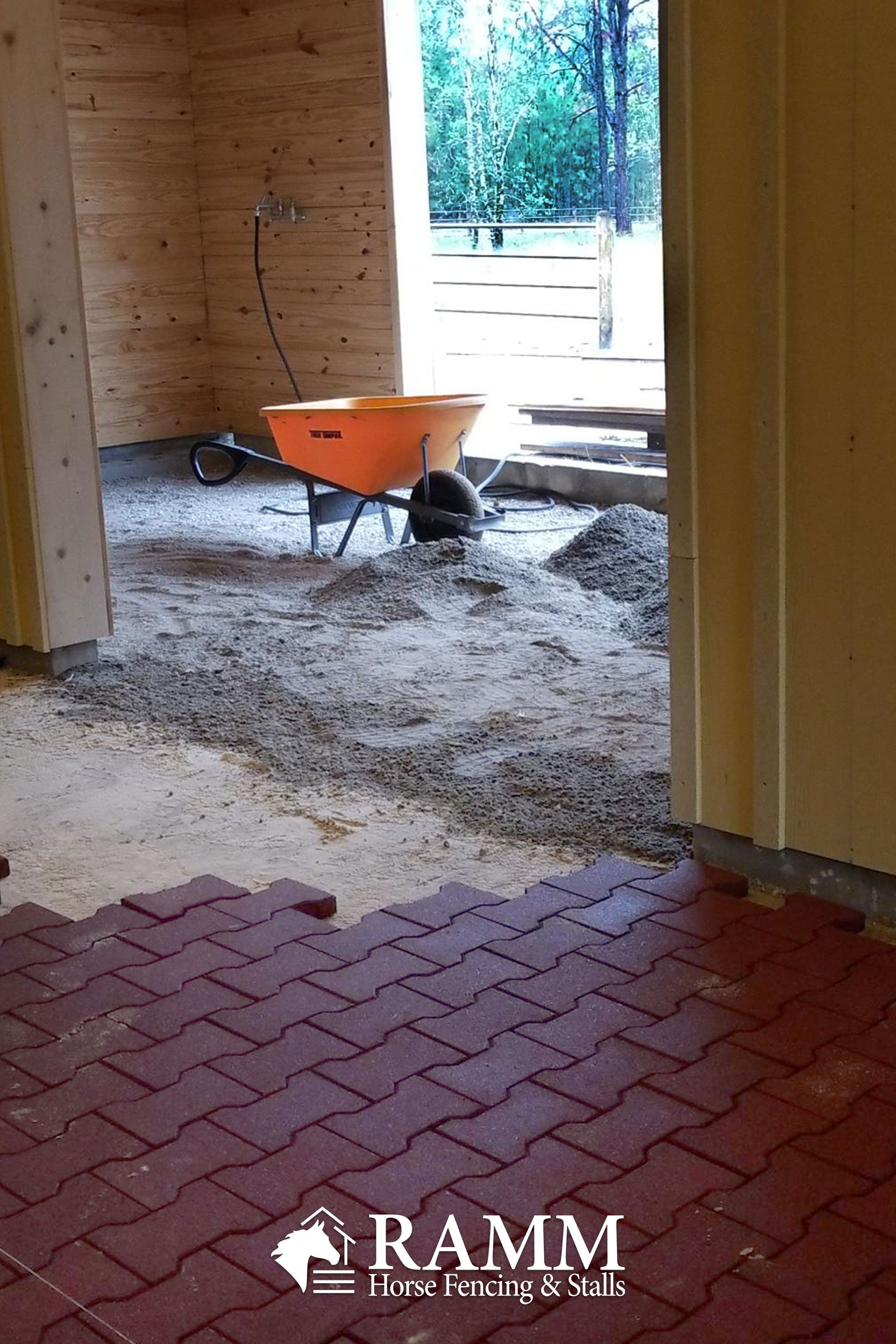 How To Install Rubber Pavers Barn Aisle Flooring Barn Aisle Flooring Barn Stalls Horses