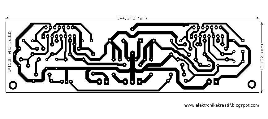 audio kreatif  layout pcb tda7294 2x100watt