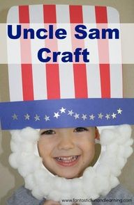 Uncle Sam Craft for patriotic holidays or pretend play