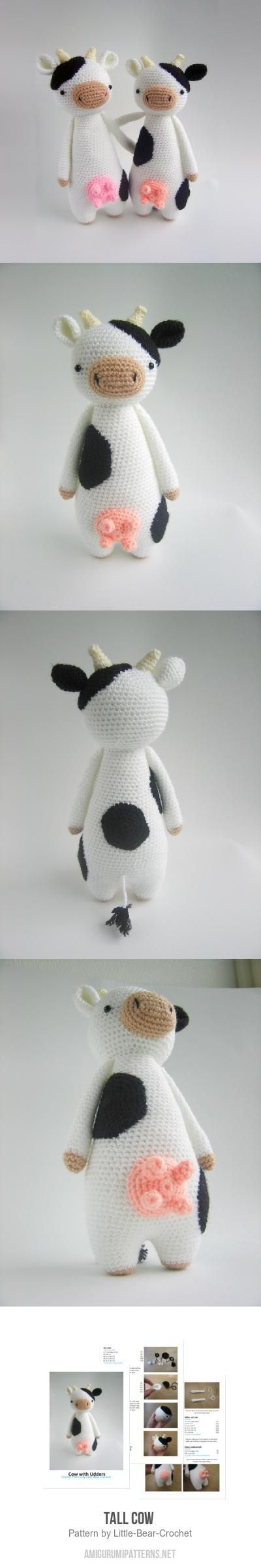 Tall Cow amigurumi pattern by Little Bear Crochet | Patrones ...