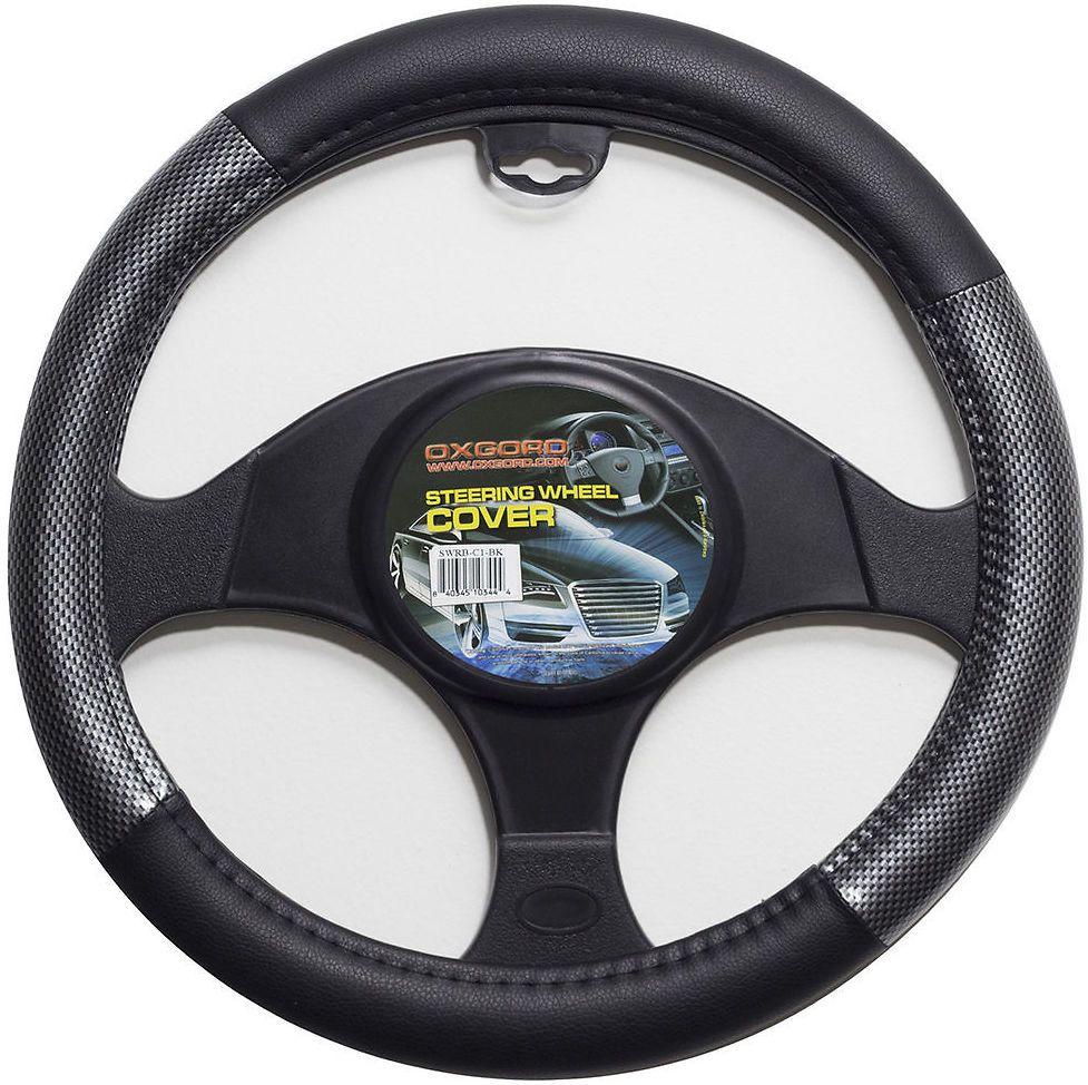 Carbon fiber steering wheel cover for car truck van suv