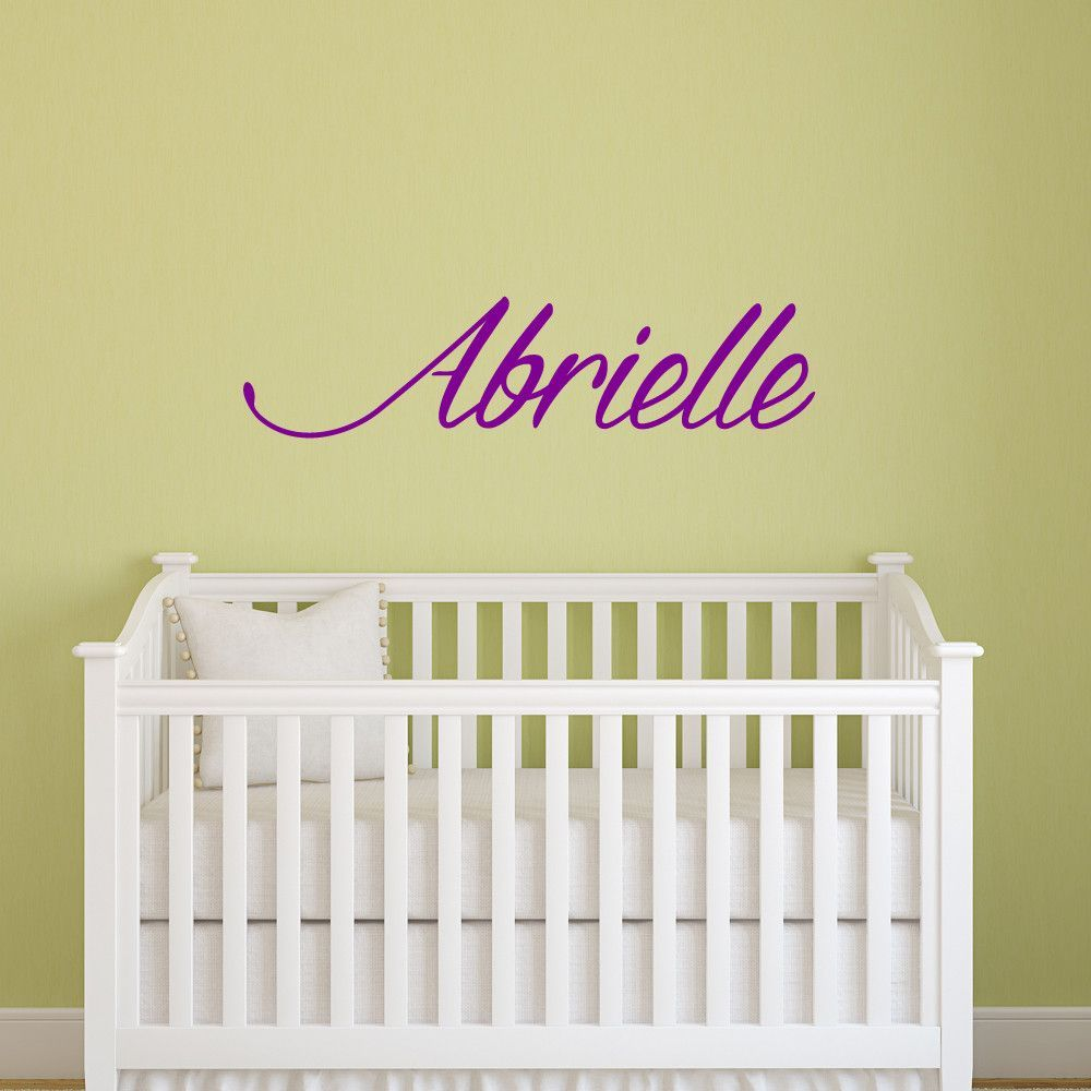 Personalized cursive name wall decal for nursery or kids room Item ...